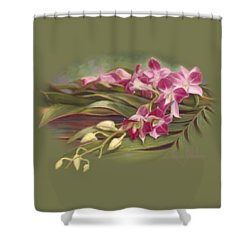 Dendrobium Orchids Shower Curtain