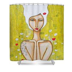 Denham Shower Curtain by Natalie Briney