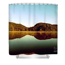Denholm Lake Shower Curtain by France Laliberte