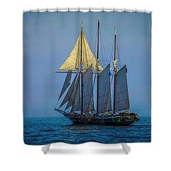 Denis Sullivan - Three Masted Schooner Shower Curtain