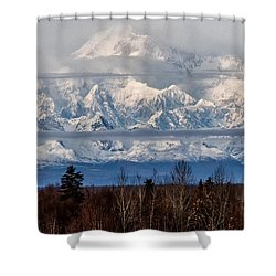 Shower Curtain featuring the photograph Denlai 2016 by Michael Rogers