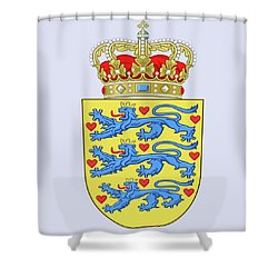 Denmark Coat Of Arms Shower Curtain by Movie Poster Prints