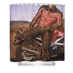 Dennis Hopper Shower Curtain by Bryan Bustard