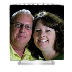 Denny Tompkins And Chuck Tompkins  Shower Curtain