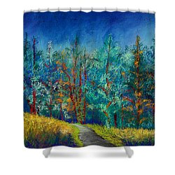 Dense Forest Shower Curtain