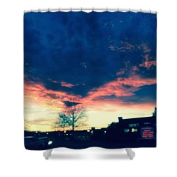 Dense Sunset Shower Curtain