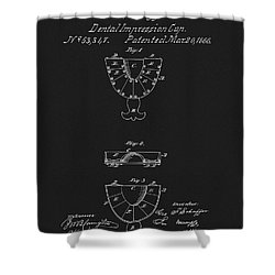 Dental Mold Patent Shower Curtain by Dan Sproul