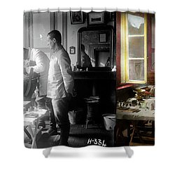 Shower Curtain featuring the photograph Dentist - The Horrors Of War 1917 - Side By Side by Mike Savad