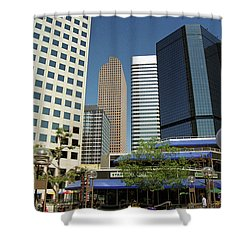 Denver Architecture Shower Curtain by Frank Romeo