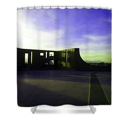 Shower Curtain featuring the photograph Denver Art Museum Deck 1 by Marilyn Hunt