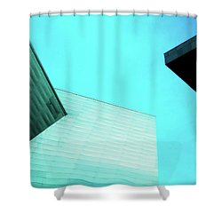 Shower Curtain featuring the photograph Denver Art Museum Hamilton by Marilyn Hunt