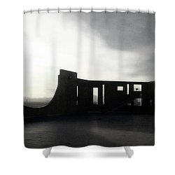 Shower Curtain featuring the photograph Denver Art Museum Ponti 2 by Marilyn Hunt