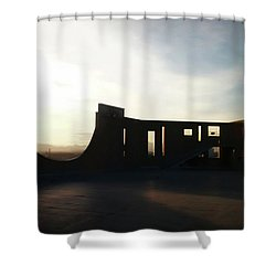 Shower Curtain featuring the photograph Denver Art Museum Ponti Deck by Marilyn Hunt