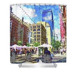 Denver Art Walk Shower Curtain