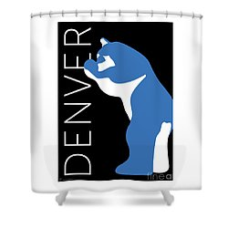 Denver Blue Bear/black Shower Curtain
