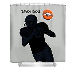 Denver Broncos Football Shower Curtain by David Dehner