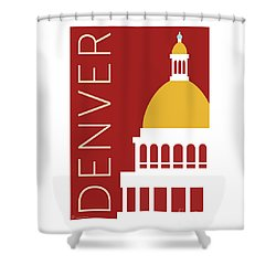 Denver Capitol/maroon Shower Curtain