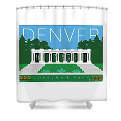 Denver Cheesman Park Shower Curtain