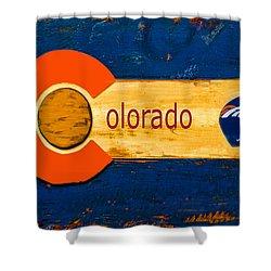 Denver Colorado Broncos 1 Shower Curtain