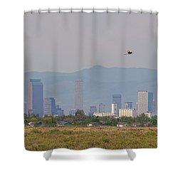Denver Colorado Pretty Bird Fly By Shower Curtain by James BO Insogna