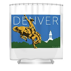 Denver Cowboy/dark Blue Shower Curtain