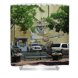 Denver Cowboy Parking Shower Curtain by Frank Romeo