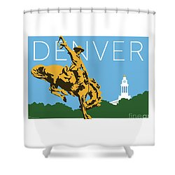 Denver Cowboy/sky Blue Shower Curtain