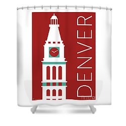 Denver D And F Tower/maroon Shower Curtain