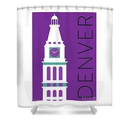 Denver D And F Tower/purple Shower Curtain