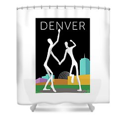 Denver Dancers/black Shower Curtain