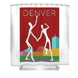 Denver Dancers/maroon Shower Curtain