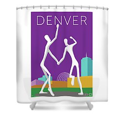 Denver Dancers/purple Shower Curtain