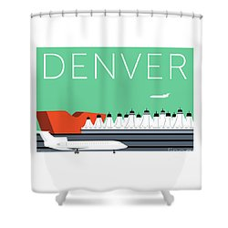 Denver Dia/aqua Shower Curtain