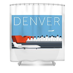 Denver Dia/blue Shower Curtain