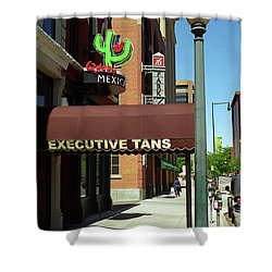 Denver Downtown Storefront Shower Curtain by Frank Romeo