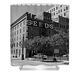 Denver Downtown Warehouse Bw Shower Curtain by Frank Romeo