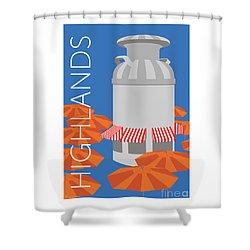 Denver Highlands/blue Shower Curtain