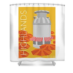 Denver Highlands/gold Shower Curtain