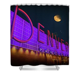 Denver Pavilion At Night Shower Curtain