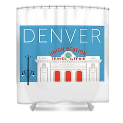 Denver Union Station/blue Shower Curtain