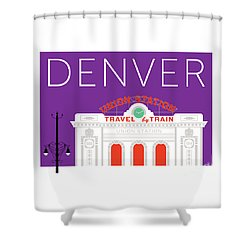 Denver Union Station/purple Shower Curtain