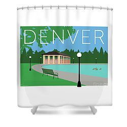 Denver Washington Park/blue Shower Curtain