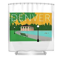 Denver Washington Park/gold Shower Curtain