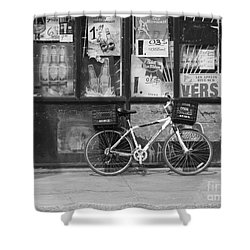 Depanneur Bike Shower Curtain