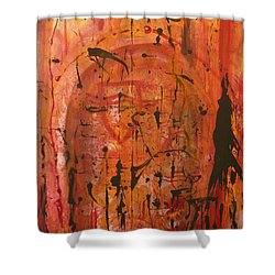 Departing Abstract Shower Curtain