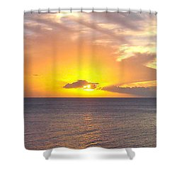 Departing St. Lucia Shower Curtain