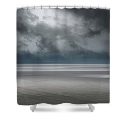 Departing Storm Shower Curtain