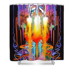 Departure Shower Curtain by Alan Johnson