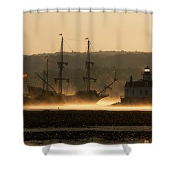 Departure Of El Galeon I Shower Curtain by Jeff Severson