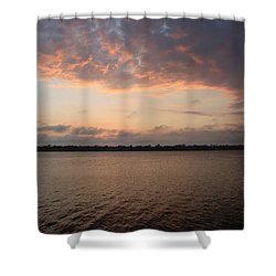 Departure Of The Sun Shower Curtain
